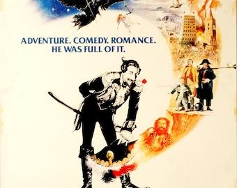 "Adventures of Baron Muchausen. 1989 Original U.S.27"" x 41"" Movie Poster.Renato Casaro Art. John Neville,Uma Therman,Oliver Reed,Eric Idle"