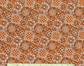 Bandana Fabric Orange 100% Cotton