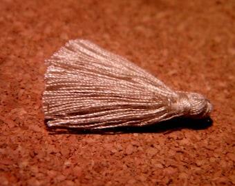 5 tassel fringe - charm - beige-cotton-25 to 31 mm - cotton thread tassels - PF51-8