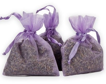 Very Fragrant Dried Organic Lavender Flower Bud Filled Sachets Potpourri Bags