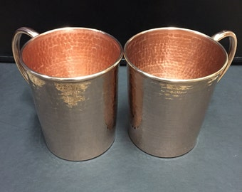 2-pack - 20 oz. Moscow Mule Pure Hammered Copper Mug