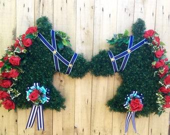 Horse Head Wreath, Run for the Roses Kentucky Derby Western