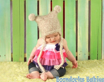 Kids Winter hat newborn to adult sizes photo prop