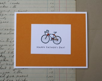 Road Bike Card. Happy Father's Day or Birthday Greeting Card, Watercolor Print Bicycle for Cyclist