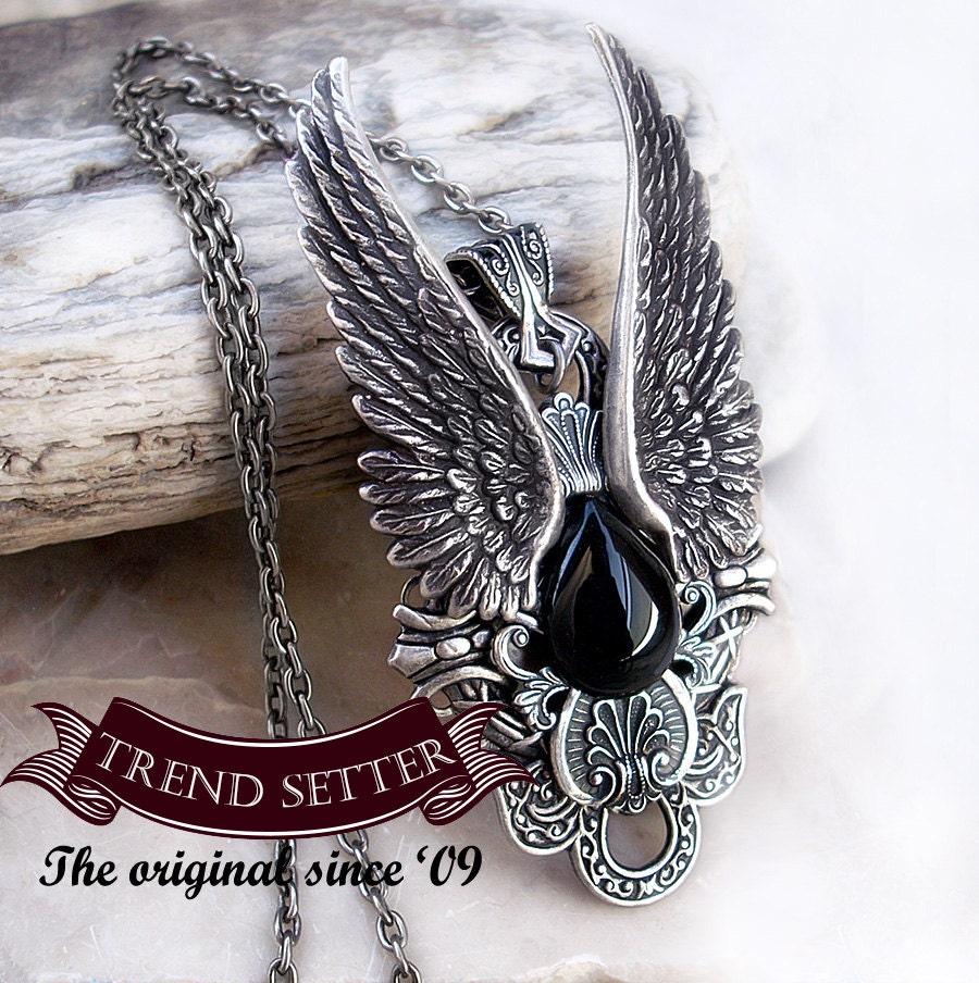Gothic Jewelry Vampire Jewelry gothic pendant Mens Onyx