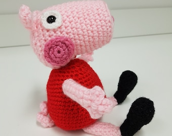 Crochet Peppa Pig! Handmade amigurumi Peppa Pig, soft toy