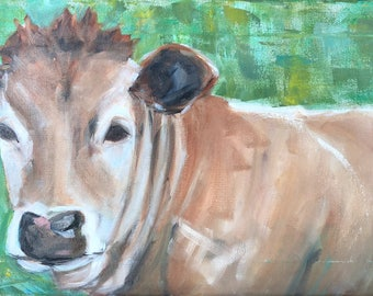 "Original ""Mornin' Sunshine"" Painting 12x24"