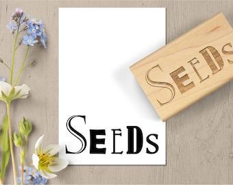 Seeds Rubber Stamp, Seed Stamp, Seed Saving Envelope, Seed Packet Stamp, Heirloom Gardening, Heritage Garden Seeds 020