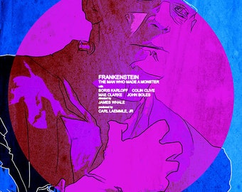 Hipster Frankenstein 11x17 print