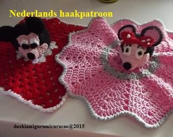 Dubbel patroon mickey en minnie Mouse knuffeldeken