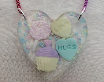 Candy-Filled Heart Necklace