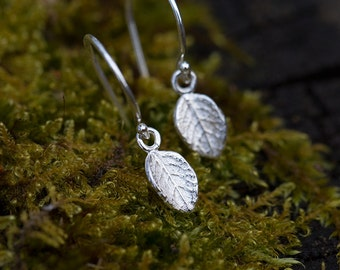 Sterling Silver Leaf Earrings | Mother's Day Gift for Mom | Gift for Women | Botanical Earrings Handmade by Burnish
