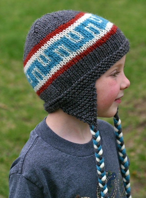 Knitting Pattern Earflap Hat Knit Hat Pattern Knitted