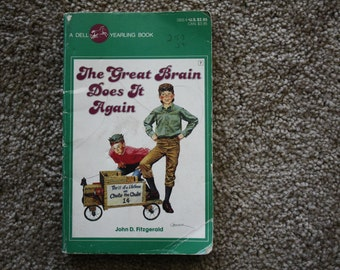 Vintage The Great Brain Does It Again book by John Fitzgerald / Free shipping