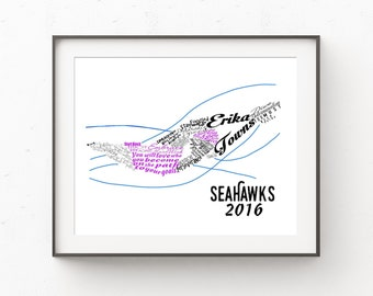 Swimmer Gift, Gift for Swimmers, Swim Team Gifts, Swim Coach Gift, Swimming Gifts, Team Gifts, Name Print, Wall Art, Wall Decor, Name Art