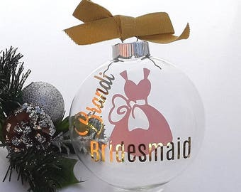 Bridesmaid Proposal Christmas Ornament, Will You Be My Bridesmaid Gift, Asking Bridesmaid Ornament, Maid of Honor Gift, Unique Ornament