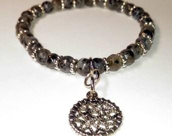 Larvikite Women's Tiny Bead Bracelet