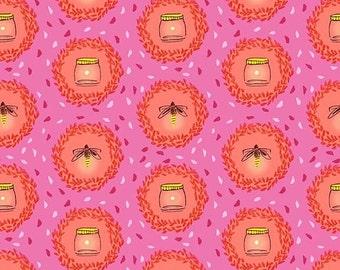 Wee Wander - Glow Friends - Pink - DC6224-PINK-D - 1/2 Yard