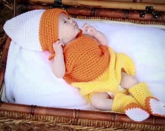 Candy Corn Suit Crochet Pattern PDF 631