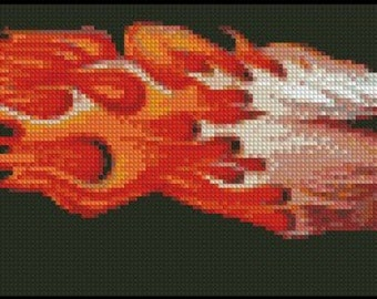 FLAMING EAGLE cross stitch pattern No.93