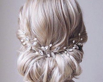 Bridal Head Piece Pearl Hair Vine Pearl And Crystal Wedding Hair Piece Pearl Wedding Hair Vine Bridal Hair Piece Pearl Bridal Hair Vine