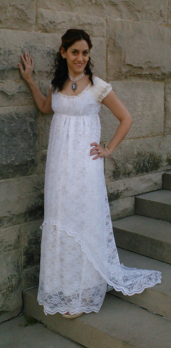Vintage Style Wedding Dresses, Vintage Inspired Wedding Gowns Titanic-style Edwardian/Regency Era wedding gown $220.00 AT vintagedancer.com