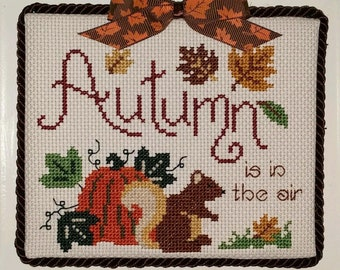 "Finished Cross Stitch ""Autumn! """