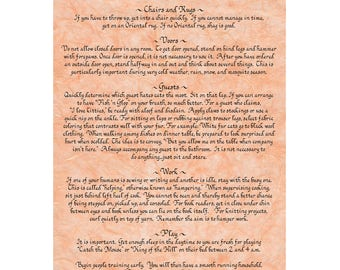Rules for Cats 11 x 14 matted print