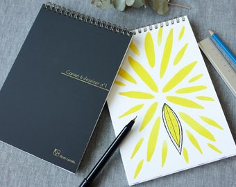 DIY - Draw It Yourself Sketchbook / Watercolor patterns for creative people to draw over / Add drawing, doodle or calligraphy