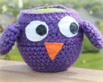 Owl Apple Cozy, Owl Cozy, Apple Cozy, Apple Holder, Purple Owl, Lunch Box, Crochet Cozy, Crochet Appy Holder