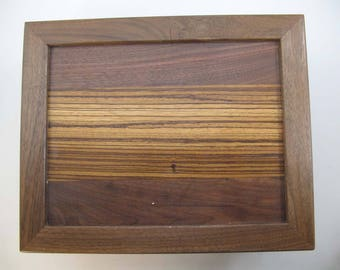 Secret.compartment.Black Walnut box.Hiding Place.Keepsake.or.Memory box.Gift for him.Retirement.Dresser valet.Anniversary.or.Birthday.gift