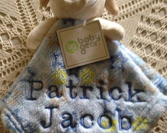 Security Blanket Lovey Buddies - Personalized- Monogrammed- Custom Made To Order