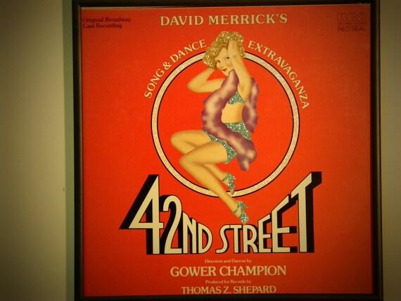 Glittered Record Album - 42nd Street