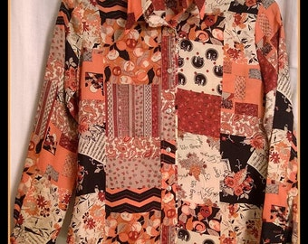 Women's Vintage Long Sleeve Button Up Blouse Top - Size 13/14 - Collars n' Cuffs San Francisco - 1980s 1970s