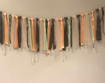 6 ft garland for parties, birthday, baby shower, girls room, babys room