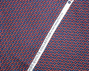 SALE : DS Quilts Denyse Schmidt Zig Zag red navy Fairgrounds FQ or two