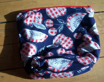 Apples and Cherries Zipper Pouch
