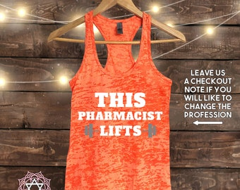 This Pharmacist Lifts - Workout tank top - Muscle Tee - Funny Workout - Fitness Shirt - Gym tank