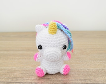 CROCHET PATTERN in English - Unicorn - Baby #11 - Babies Collection - Amigurumi Toy - Instant PDF Download