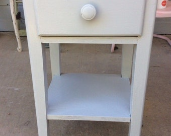 Painted Cottage Shabby Chic Nightstand Or End Table Vintage Wood Wooden  Retro
