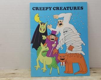 Creepy Creatures, 1982, Dan Nevins, vintage kids book