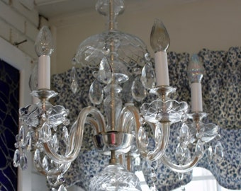 Crystal chandelier etsy czech crystal chandelier aloadofball Images