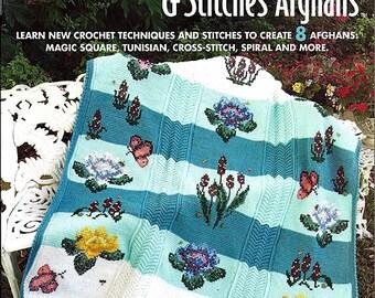 Special Techniques & Stitches Afghans Crochet Pattern Book Annie's Attic 878543