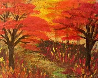 DIY Acrylic Painting Lesson - Autumn Splendor