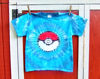 Youth Size Pokemon Team Mystic Tie Dye Tshirt - Made to order - Youth XS S M L