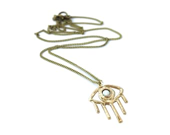 Opal Vision Necklace // Evil Eye Necklace, All Seeing Eye Necklace