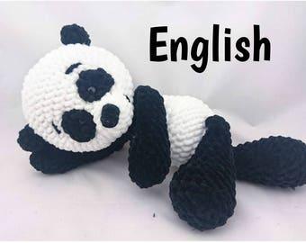 PDF Crochet Pattern ENGLISCH Paul Panda haekelnundkuscheln