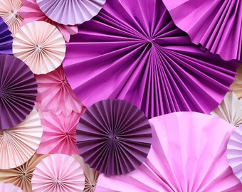 Pinwheel paper flowers Newborns Photography Backdrop Purple Floral wall Photo Background for Studios - Item D-8198
