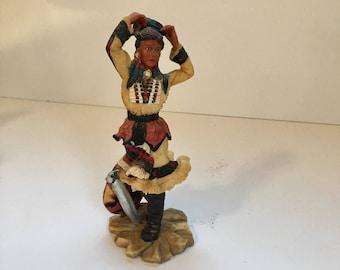 Native American Indian Statue Warrior Woman Figurine
