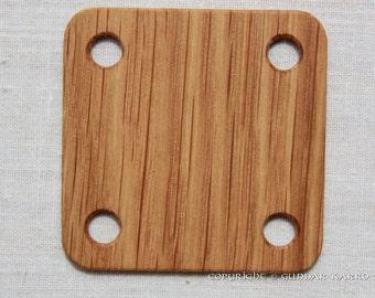 Weaving cards 5x5cm - 24 - Oak - Tablet weaving - Card weaving - Inkle loom weaving - Ancient medieval viking art medieval weaving SCA
